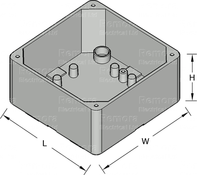 IP65 Junction Box Drawing