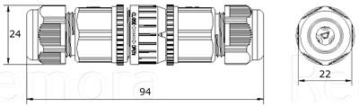 IP68 In-Line Disconnecting Connector