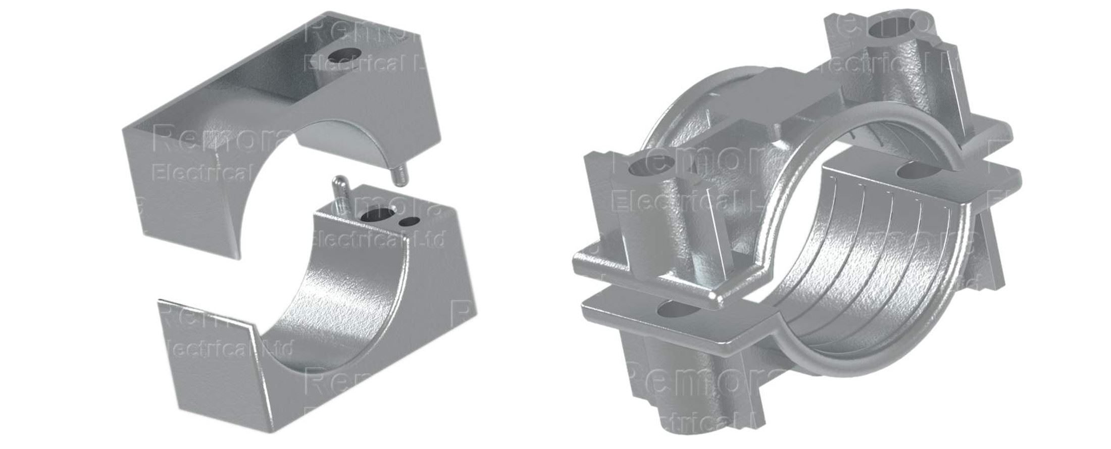 cleats metallic two part