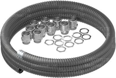 Flexible Conduit Galvanised Steel with PVC Coating Contractor Pack